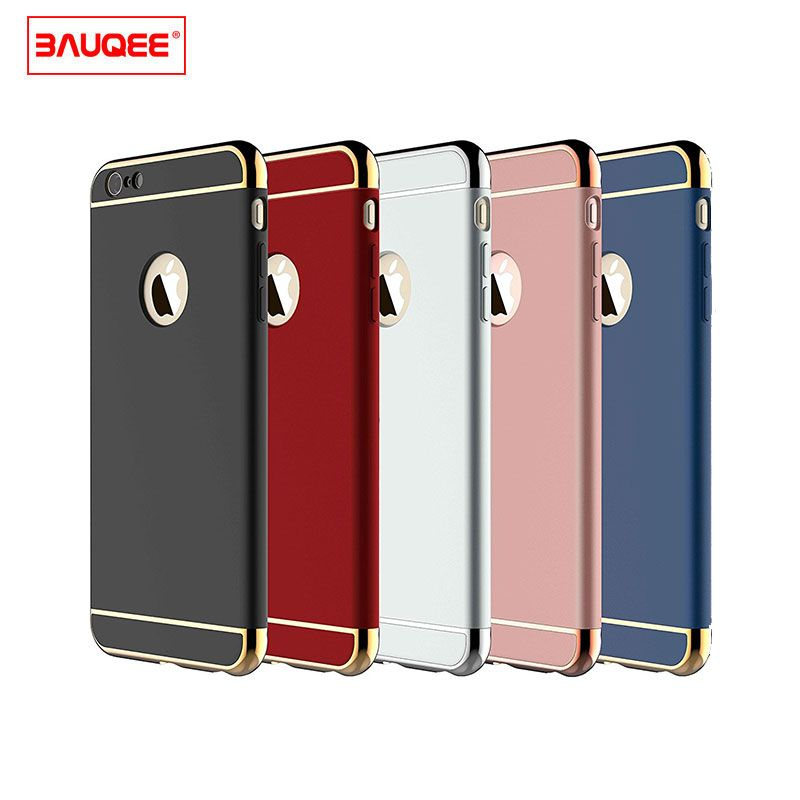 BAUQEE Case For iPhone 6 6s Plus Ultra Thin Slim Hard Case Slip Matte Surface with Electroplate Frame for Apple iPhone 6 6s Plus