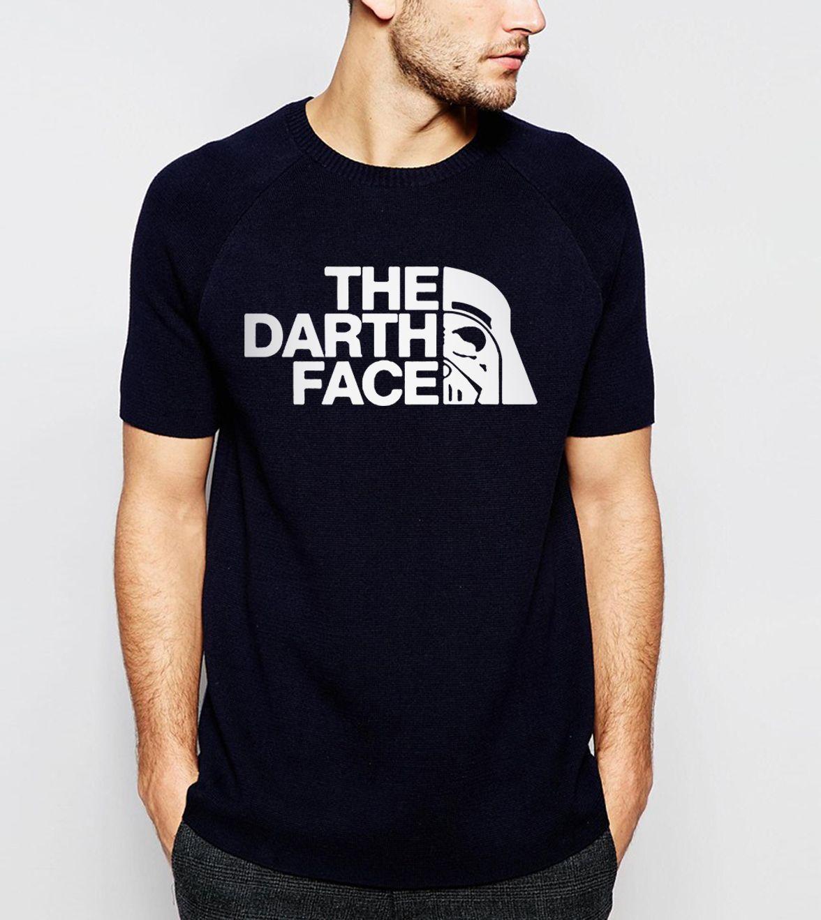hot sale 2017 Summer New Fashion Men's T-shirts Star Wars The Darth Face T shirt 100% Cotton High Quality Short Sleeve Shirt