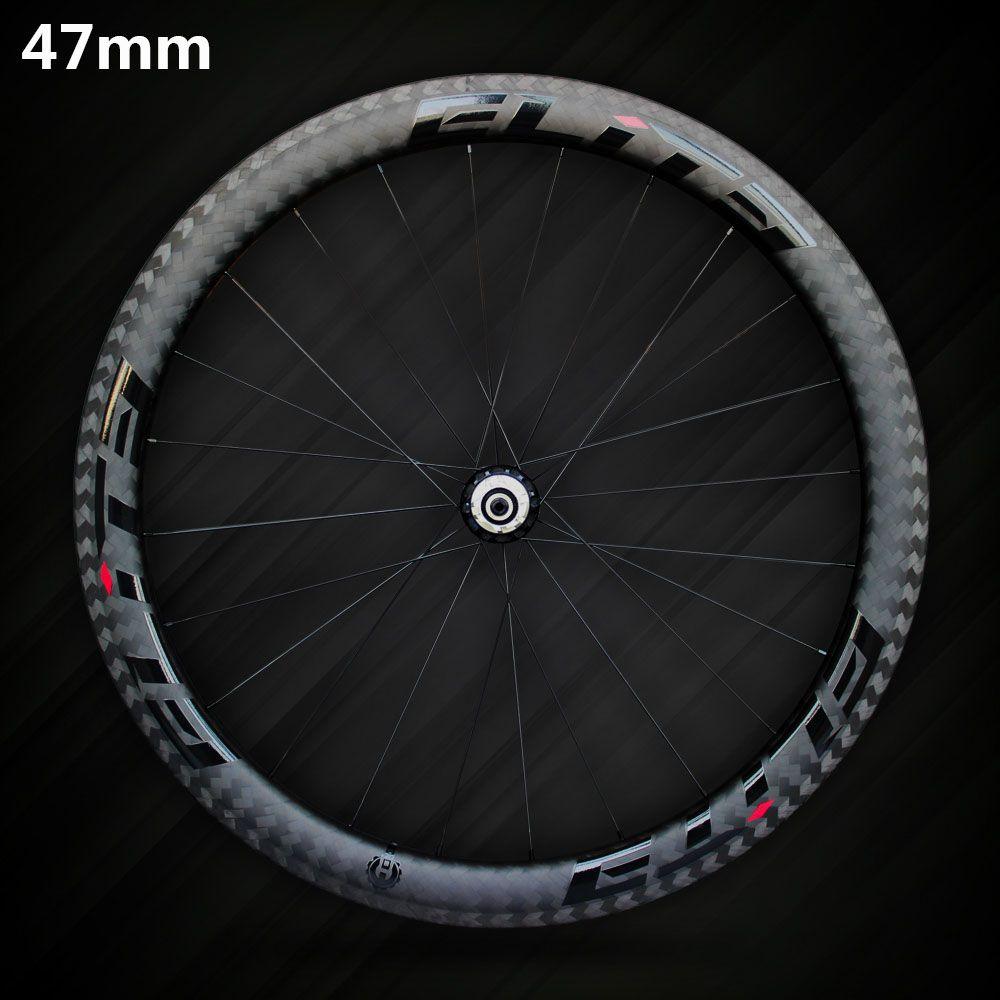 Elite SLR Carbon-rennrad Rad 700c Felge Tubular Drahtreifen Schlauchlose Mit Taiwan Gerade Pull Niedrigen Widerstand Keramik Hub