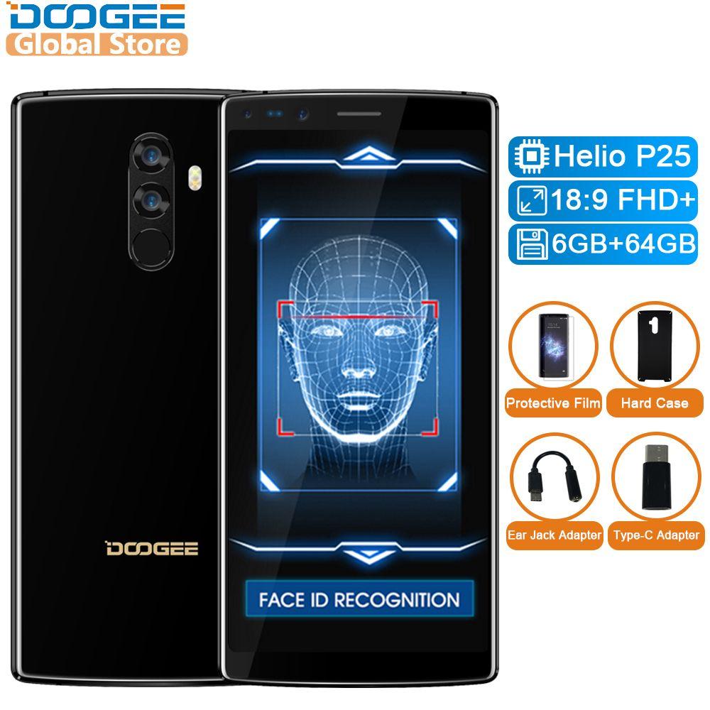DOOGEE Mix 2 Android 7.1 4060mAh 5.99inch FHD+ Helio P25 Octa Core 6GB RAM 64GB ROM Smartphones Quad Camera 16.0+13.0MP