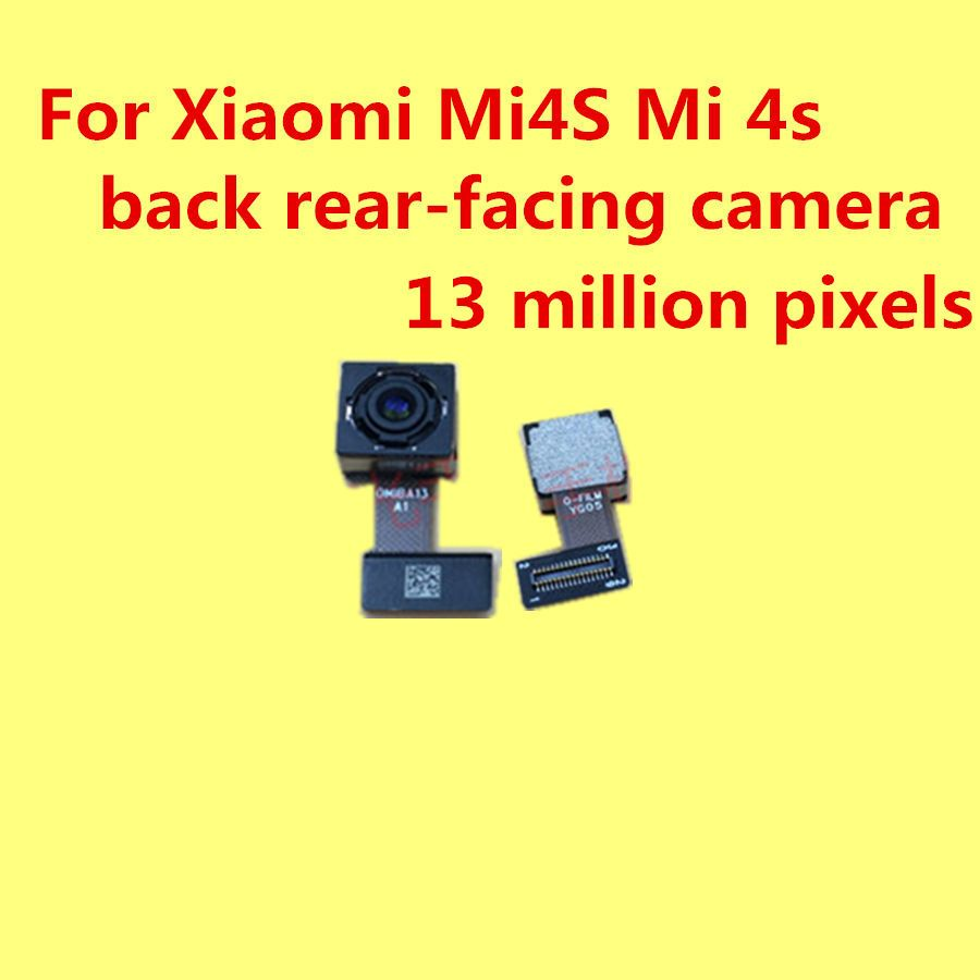 Retour arrière-face à la caméra pour Pour Xiaomi Mi4S Mi 4s caméra 13 millions de pixels + Donner de silicium cas 1 pc