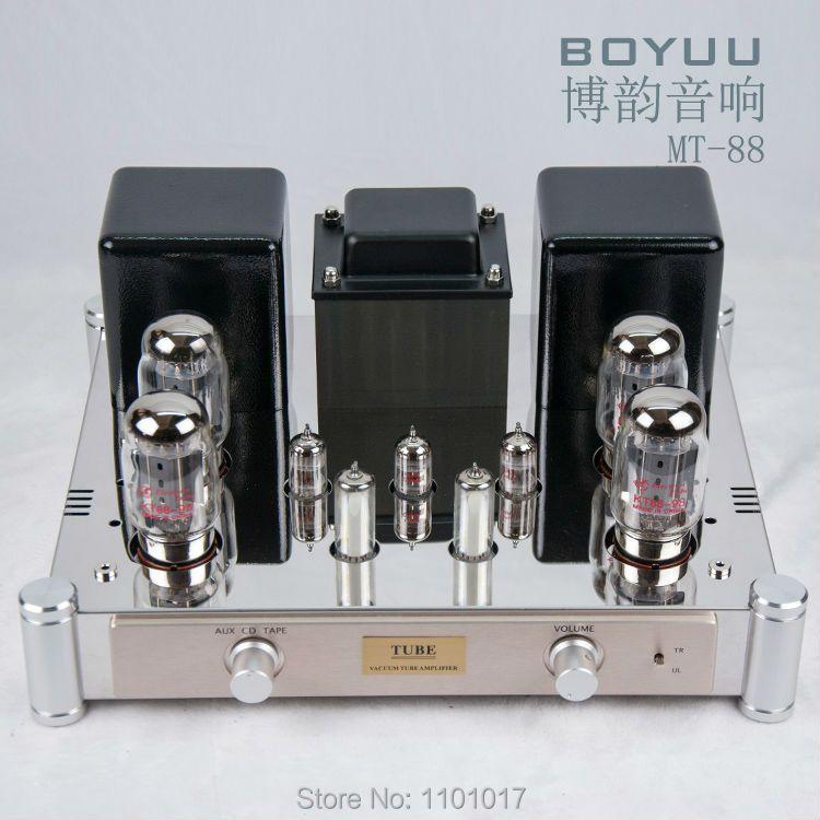 Reisong Boyuu MT-88 KT88 Magic Eye Push-Pull Tubes Amplifier HIFI EXQUIS handmade Lamp Amp MT88