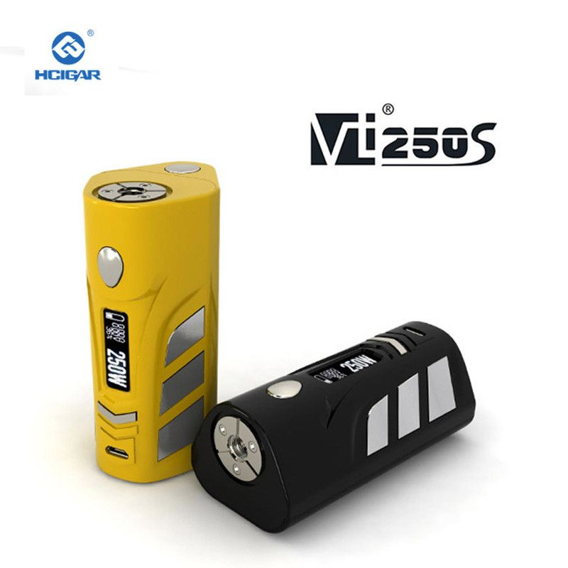 Original HCigar VT250S Box mod 1-167W or 250W electronic cigarette 2-3 Batteries Features back cover EVOLV DNA250 Chipset