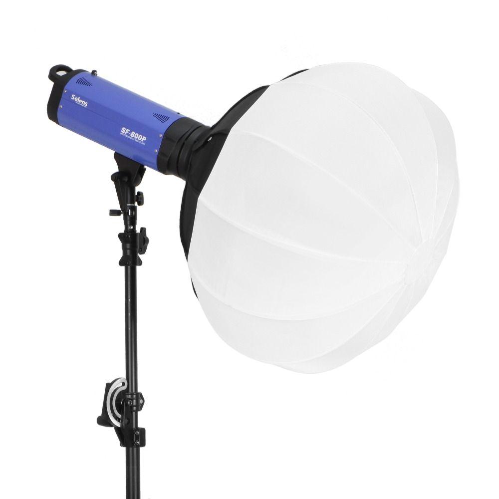 Selens 50/65/80 cm Collapsible Sphere Softbox Paper Lantern Ball Shape Globe Diffuser w/ Bowens Mount for Studio Flash Strobe
