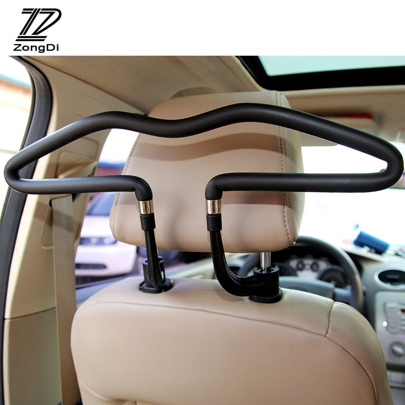 ZD Automobiles For Mercedes W203 W211 W204 W210 Benz BMW F10 E34 E30 F20 X5 E70 E46 Car Hanger Clothes Rack Headrest Stainless