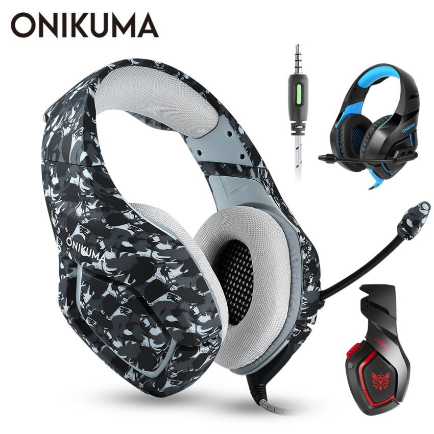 ONIKUMA K1 casque de jeu PS4 casque filaire PC stéréo écouteurs casque avec Microphone pour nouvelle Xbox One/ordinateur portable tablette Gamer