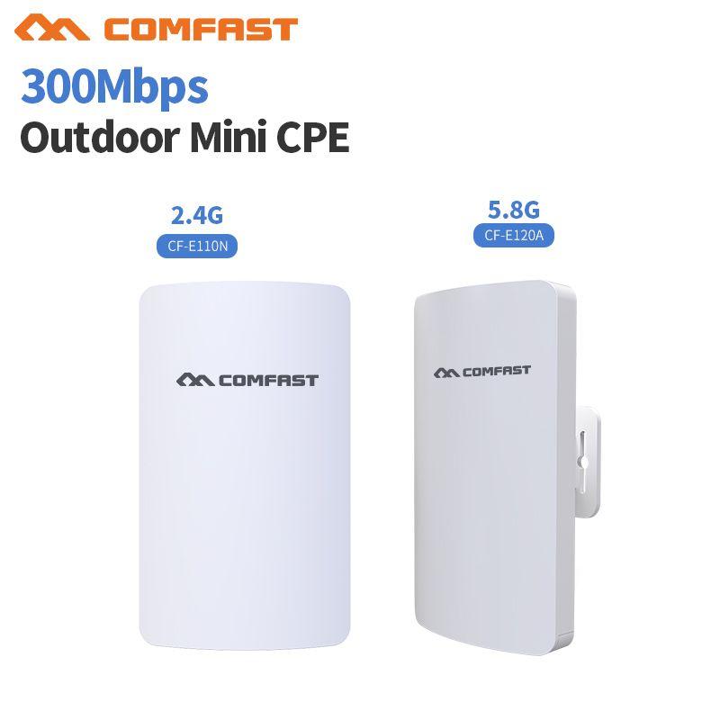 2,4 & 5G Mini Drahtlose WIFI Router Repeater Long Range cpe 3 KM 300 Mt Außen AP Router CPE AP Brücke Client Router Unterstützung OpenWRT