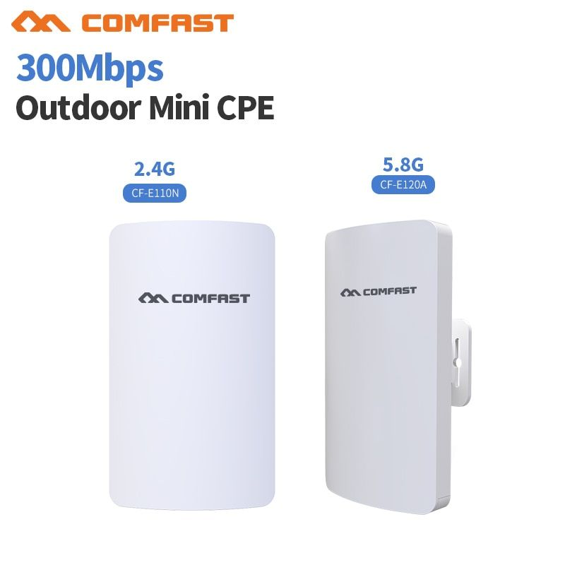 2.4& 5G Mini Wireless WIFI Router Repeater Long Range cpe 3KM 300M Outdoor AP Router CPE AP Bridge Client Router Support OpenWRT