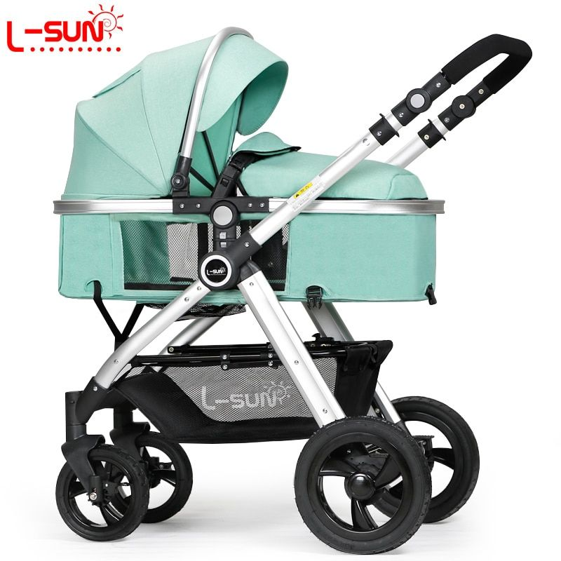 Small Sun Baby Stroller Can Sit and Lie Down Flat Summer Two-way Portable High Landscape Trolley Light Folding