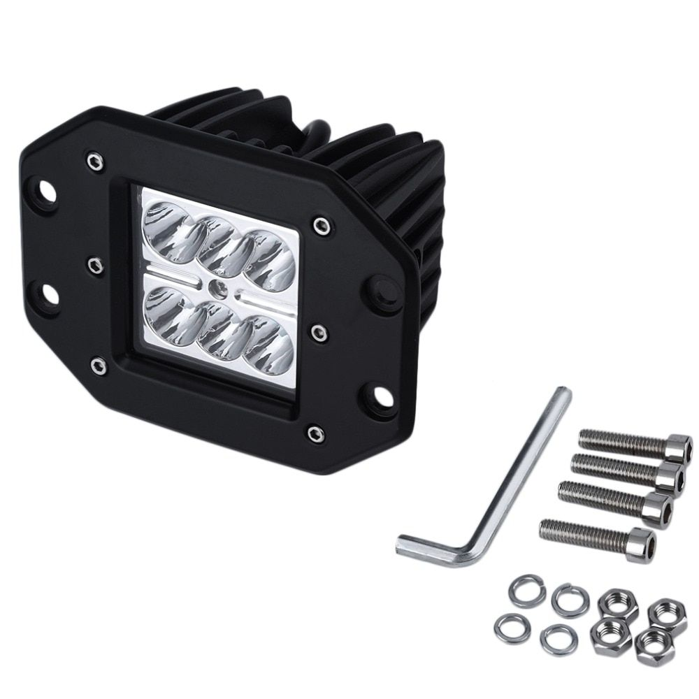 1pc 4Inch 18W 24V LED Work Light Bar for Indicators Motorcycle Driving Offroad Boat Car Tractor Truck 4x4 SUV ATV Flood