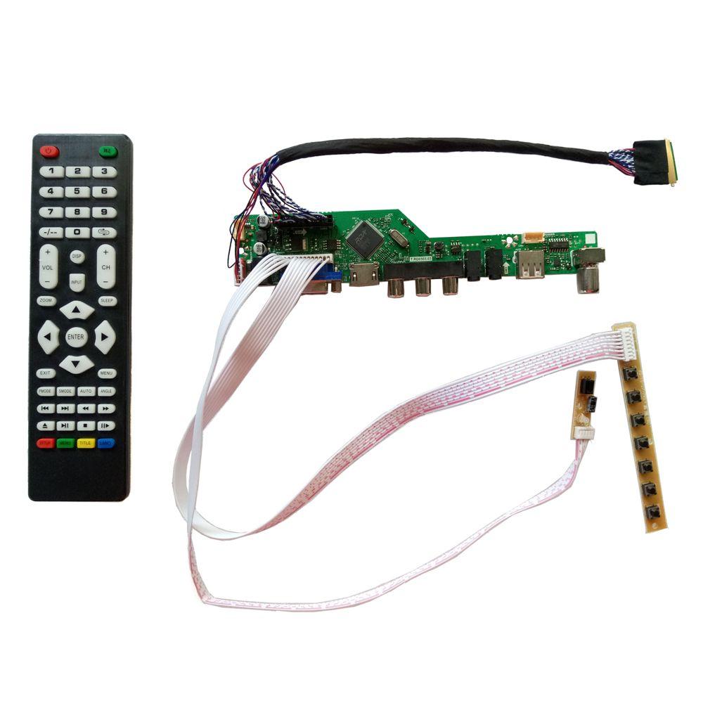T. V56.031 nouvelle carte de contrôleur universelle HDMI USB AV VGA ATV PC LCD pour 15.6 pouces 1366x768 N156B6-L0B LED Kit de moniteur LVDS