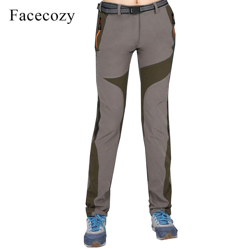 Facecozy Women's Summer Hiking Pants Waterproof Quick Dry Outdoor Trousers Elastic Trekking Camping Fishing Thin <font><b>Pantalones</b></font>