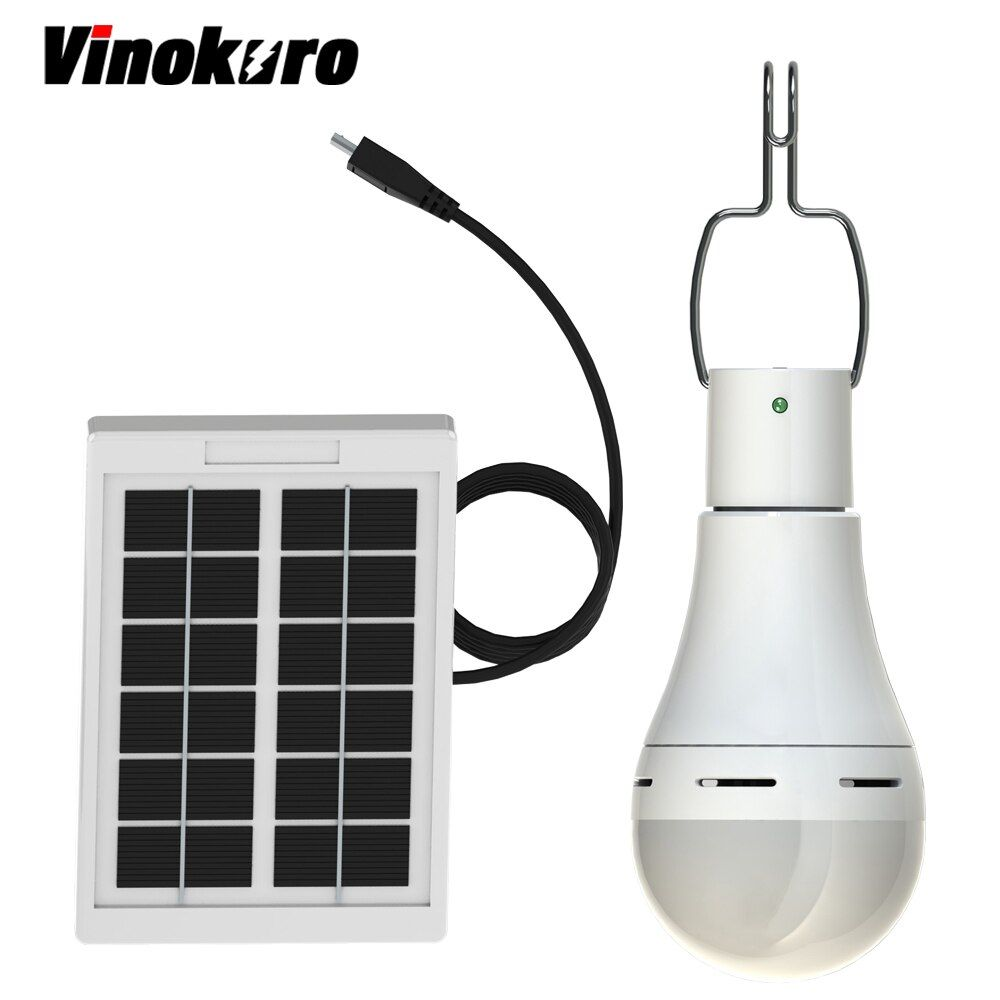 Vinokuro Useful Energy Conservation 9W 230LM Portable Led Tent Bulb Light Charged Solar Energy Lamp Home Outdoor Lighting Panel