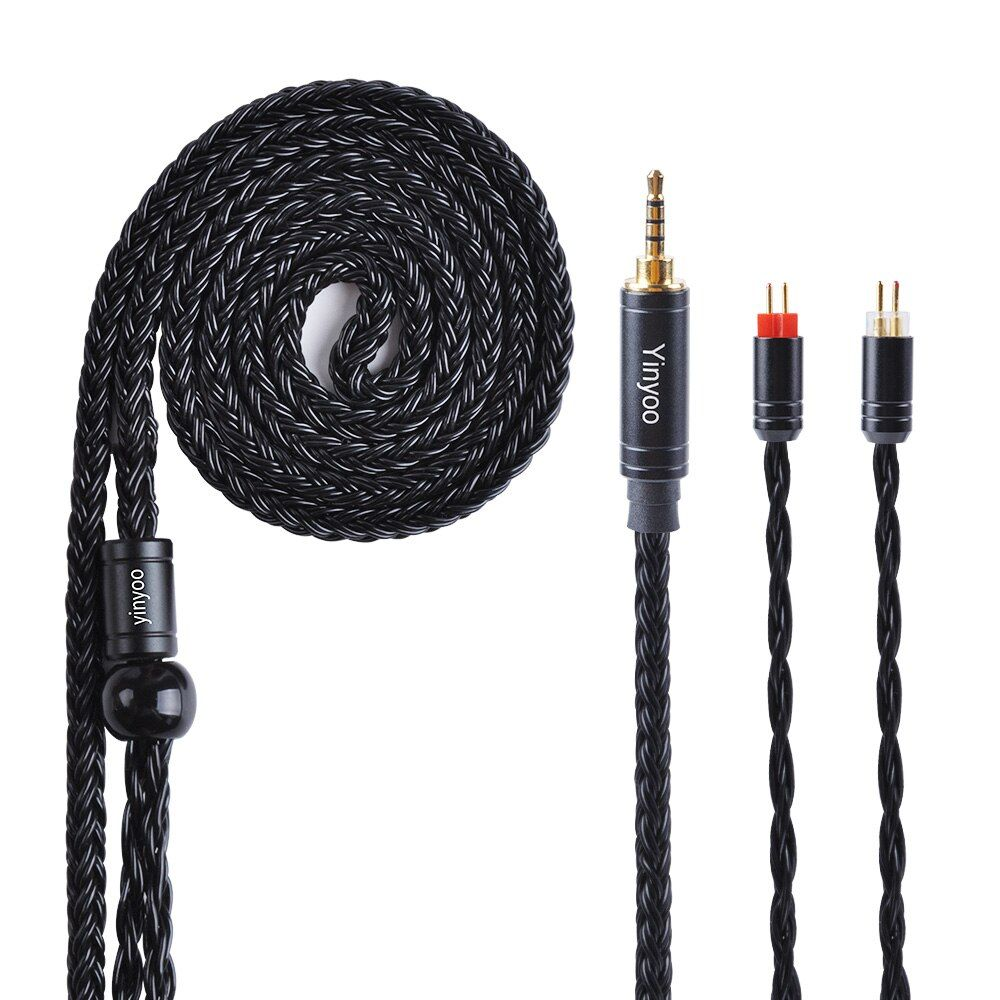 Yinyoo 16 Core Silver Plated Cable 2.5/3.5/4.4mm Balanced Earphone Upgrade Cable With MMCX/2Pin for KZ ZS10 PRO AS16 CCA TRN X6