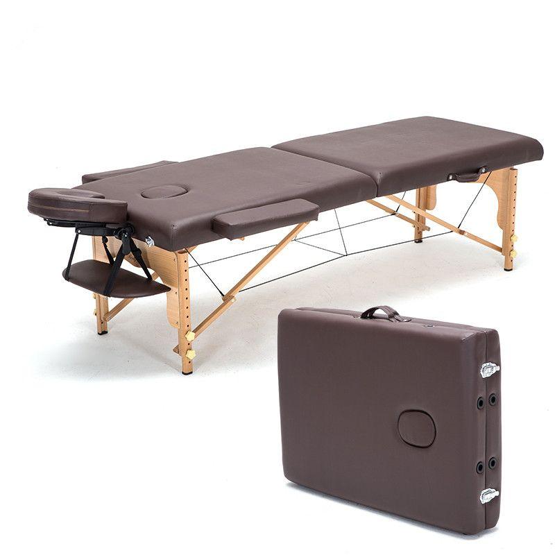 Professionnel Portable Spa Tables De Massage Pliable avec Carring Sac Salon Meubles En Bois Lit Pliant Beauté Table De Massage