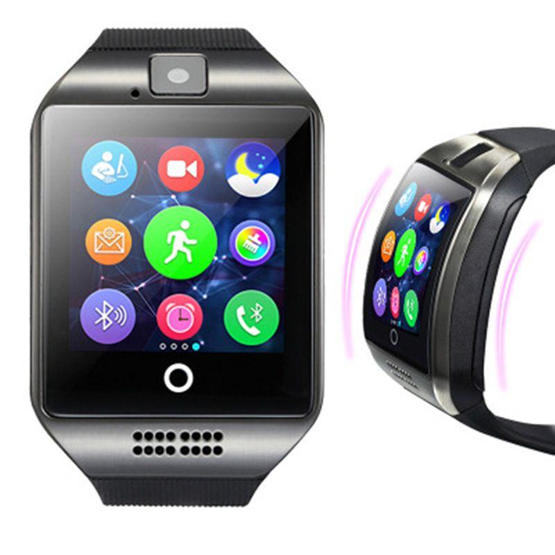 SmartWatch New Q18 Passometer montre Smart watch avec Écran Tactile Caméra TF carte Bluetooth Smartwatch pour Android IOS Téléphone Hommes Montre