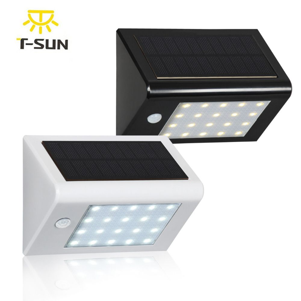 T-SUNRISE 20 LED Outdoor Lighting Solar Powered Lamp Light Outdoor Wall Lamp Waterproof Solar Motion Sensor <font><b>Garden</b></font> Light 350LM