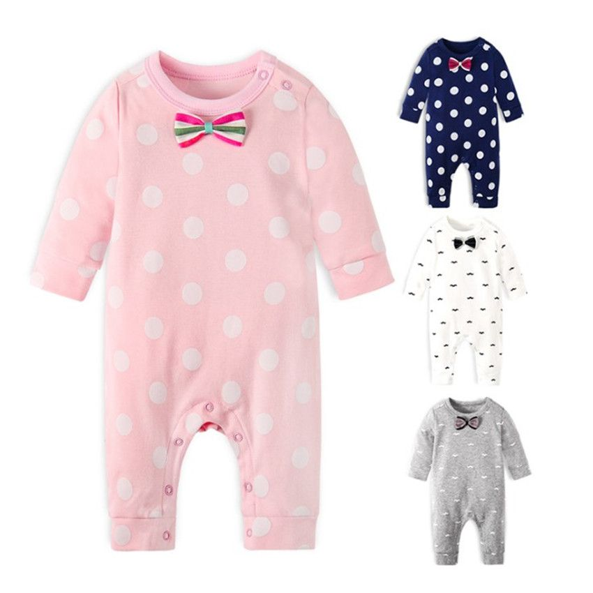 Brand New Fashion Newborn Toddler Infant Baby Boys Romper Long Sleeve Jumpsuit Playsuit Little Boys&Girls Outfits Black Clothes