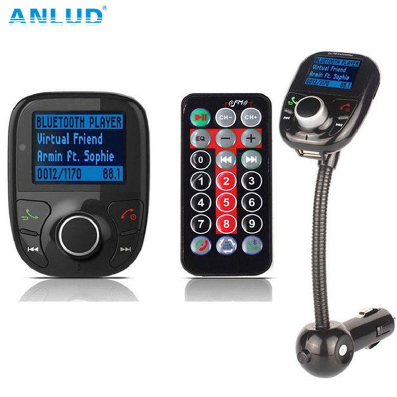 ANLUD sans fil voiture FM modulateur voiture lecteur MP3 Bluetooth FM transmetteur avec télécommande mains libres LCD écran USB chargeur