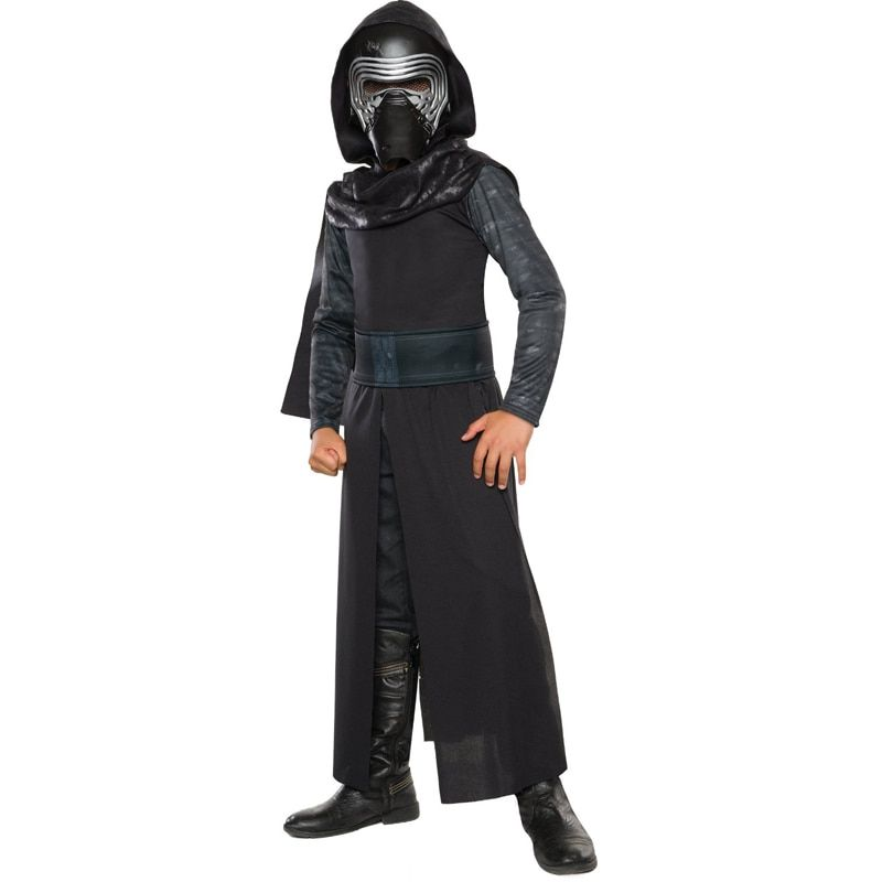 New Arrival Boys Deluxe <font><b>Star</b></font> Wars The Force Awakens Kylo Ren Classic Cosplay Clothing Kids Halloween Movie Costume