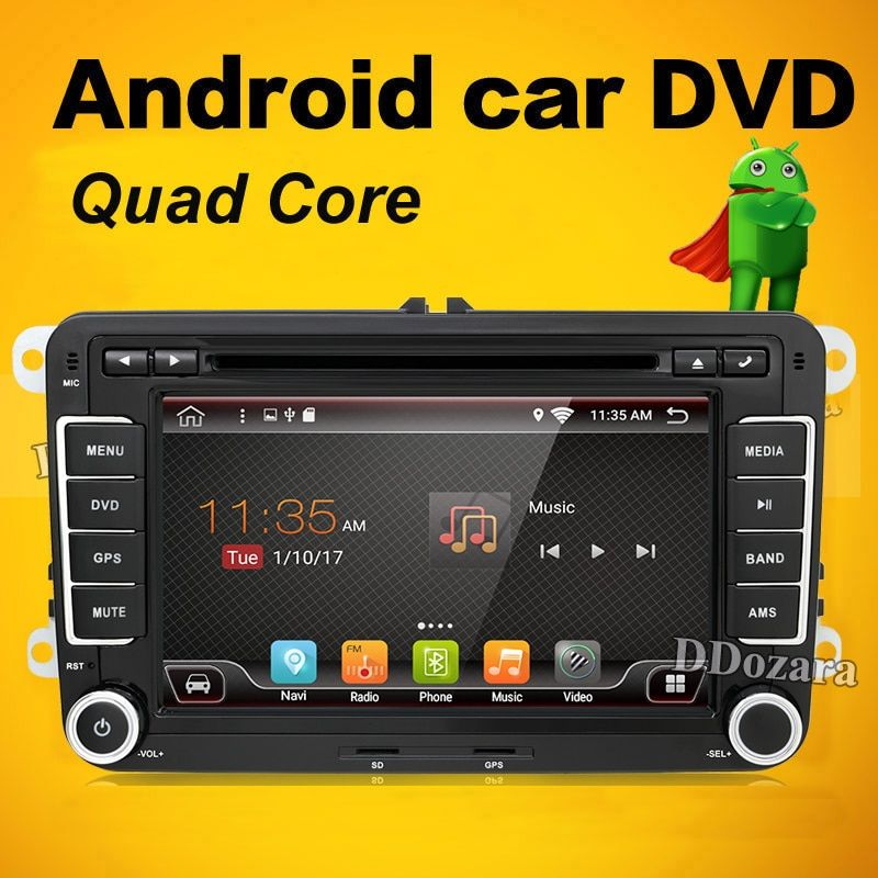2 Din android 7.1 7Inch Car DVD Player For Skoda/Octavia/Fabia/Rapid/Superb/VW/Seat With Wifi Radio FM GPS Navigation