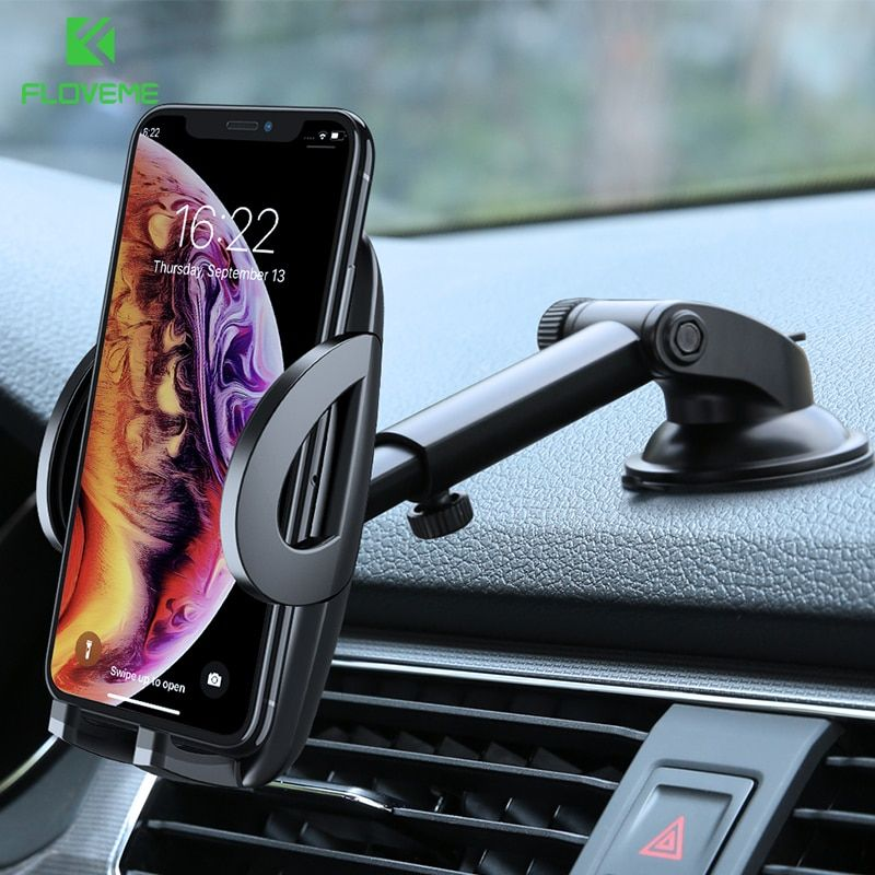 FLOVEME Car Phone Holder For iPhone XS MAX XR X Xiaomi 360 Rotate Dashboard Windshield Car Mount Mobile Holder For Phone Stand