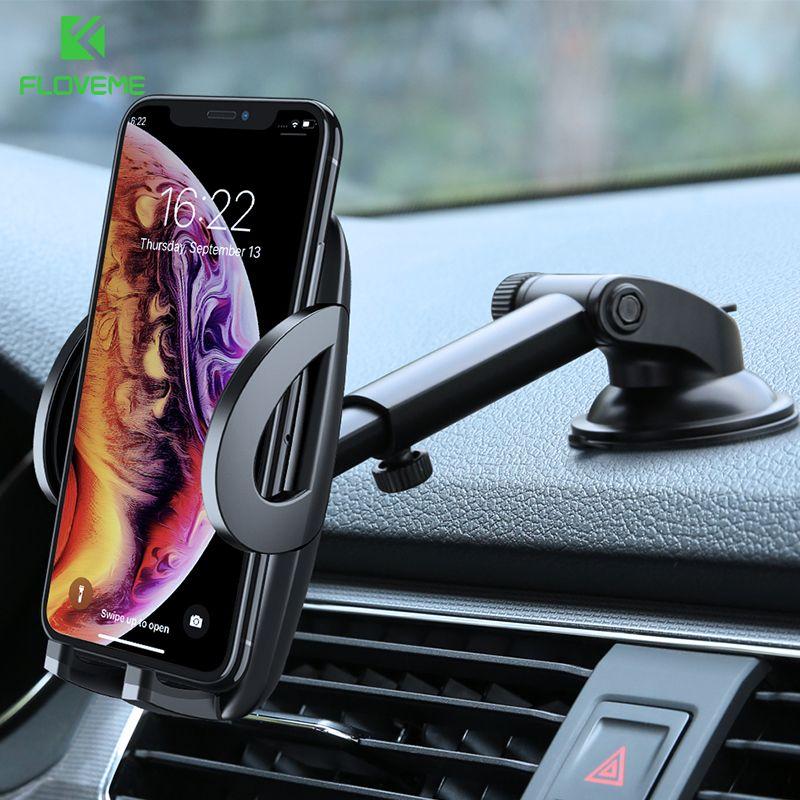 FLOVEME support pour téléphone de voiture pour iPhone XS MAX XR X Xiaomi 360 rotation tableau de bord pare-brise support de voiture support de téléphone portable pour support de téléphone