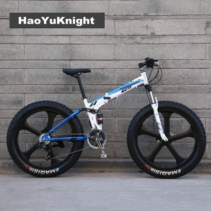 20/26 inch beach snow bike large rough width 4.0 tires men and women adult students folding variable mountain bike Free Delivery