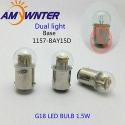 Mini birne G18 led Dual Licht funktion 12 24 V 1157 Motorrad lampe Ausrüstung Signal lampe Auto Lichtquelle Hinten birne Lampe