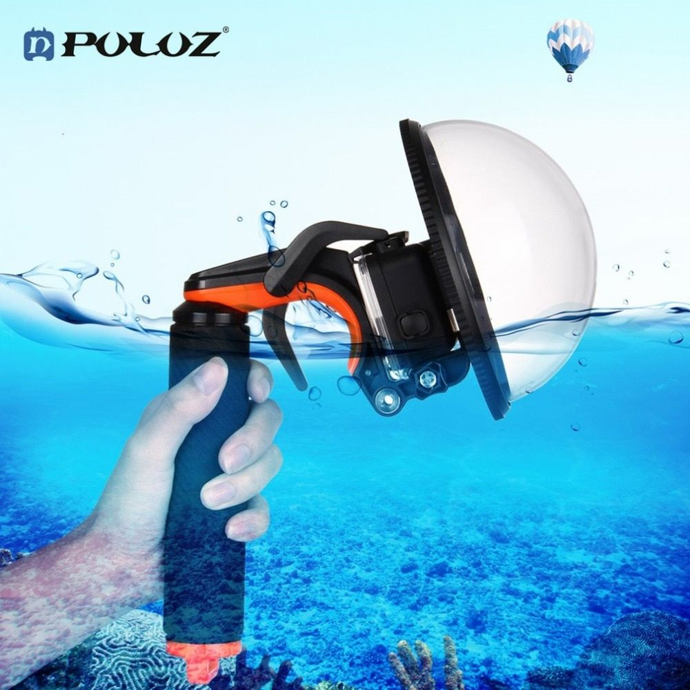 PULUZ Dome Port Waterproof Shell Water Mirror Mask Floating Hand Grip Shutter Trigger Tripod For GoPro Hero 6 5 Camera Accessory