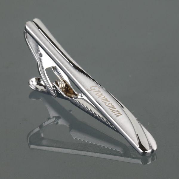 Tj-002 персонализированные зажим для галстука с подарочной коробке для папа Новый Модные украшения Высокое качество пользовательские галсту...