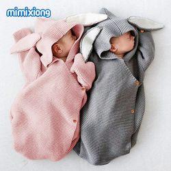 Adorable conejo cochecito de bebé bolsa de dormir primavera otoño recién nacido swaddle WRAP nido sobres para niño niños 0-1Y