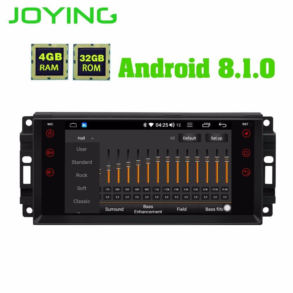 JOYING 4 GB RAM Android 8.1 Auto Audio HU stereo für JEEP WRANGLER Radio GPS system für Grand Cherokee kopf einheit für Dodge Avenger