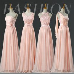 Promotion listing Blush Bridesmaid Dresses Floor Length Halter Lace Pale Pink Bridesmaid Dresses Prom LC250M