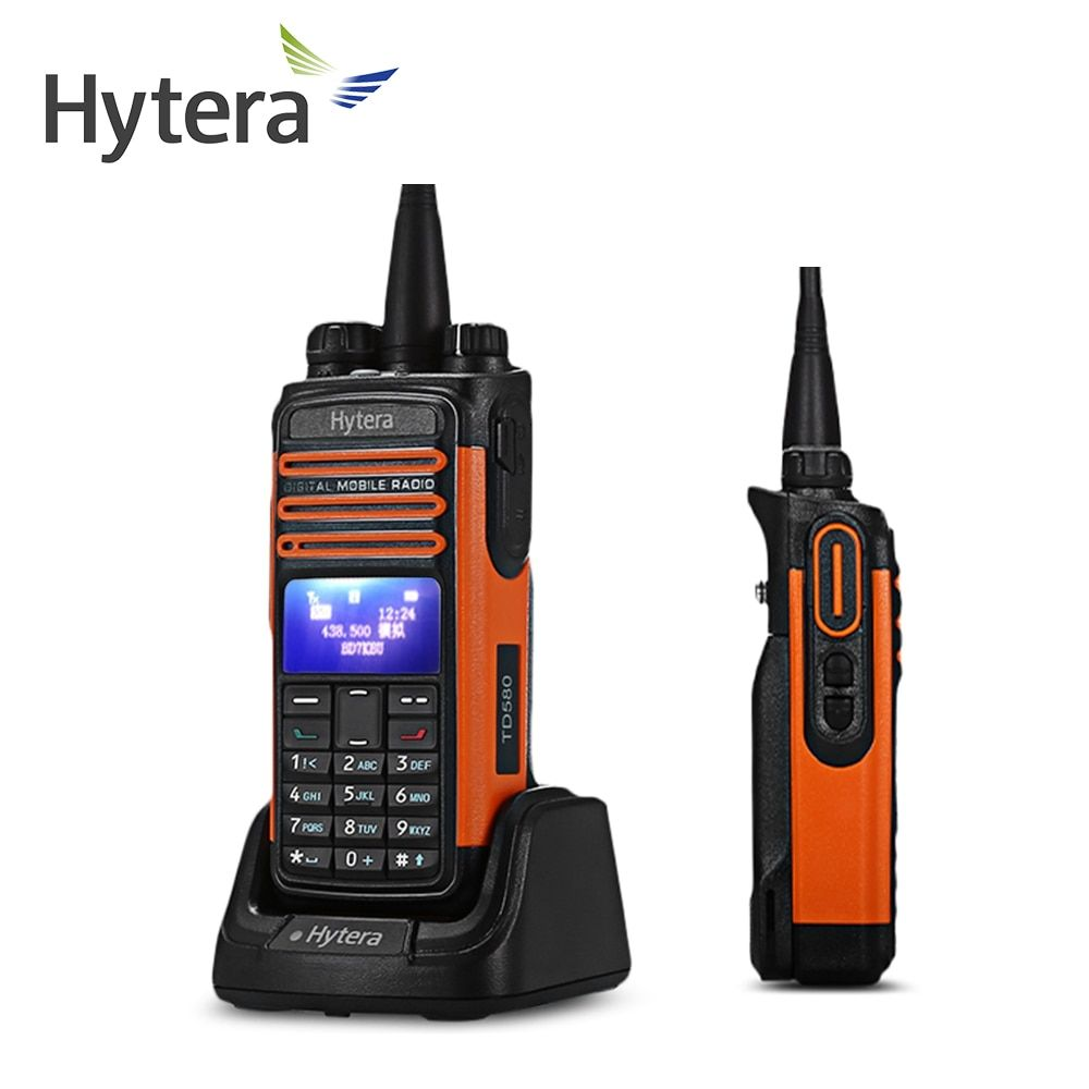 HYT-TD580 Hytera 1.3 inch OLED DMR Digital Walkie Talkie with Bluetooth and Optional GPS Compass Support Manual write frequency