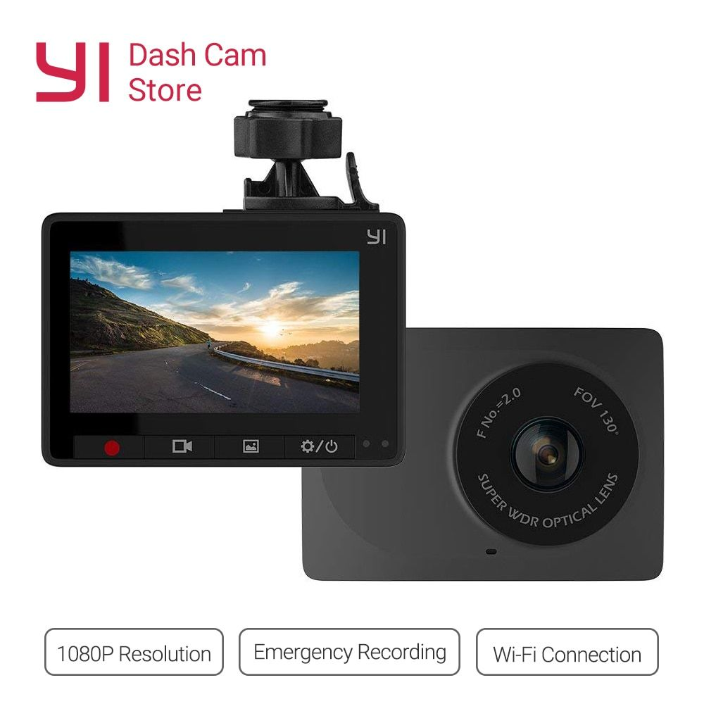 YI Compact Dash Cam 1080p Full HD Car Dashboard Camera 2.7inch LCD Screen 130 WDR Lens G-Sensor Night Vision Loop Recorder