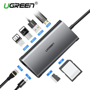 Ugreen USB HUB USB C à HDMI RJ45 Thunderbolt 3 Adaptateur pour MacBook Samsung Galaxy S9/Note 9 Huawei p20 Pro Type C USB 3.0 HUB