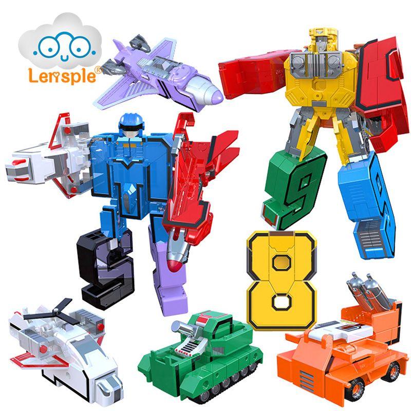 Lensple Educational Digital Number Magic Number Transformation Toys Assembling Action Figure Robots Best Gifts For Kids