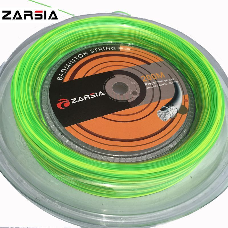 1 Reel/Lot ZARSIA 2-farben Badminton String Reel 200 Mt