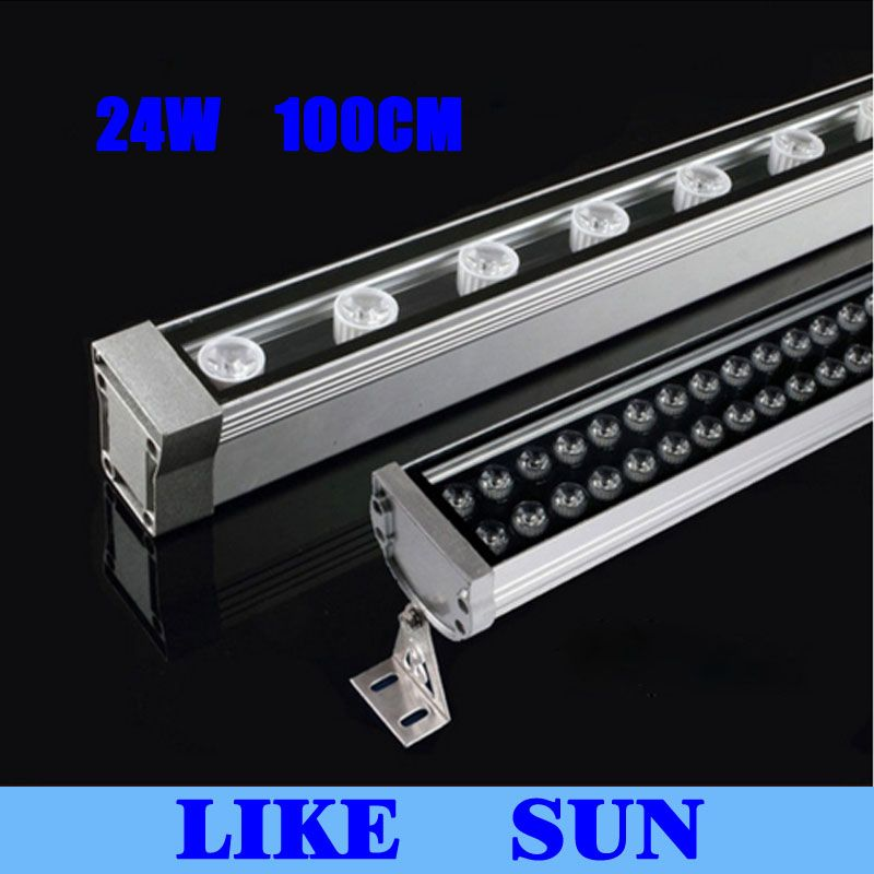 New 1M 24W LED Wall Washer Landscape light AC 85V-265V outdoor lights wall linear lamp floodlight 30cm wallwasher