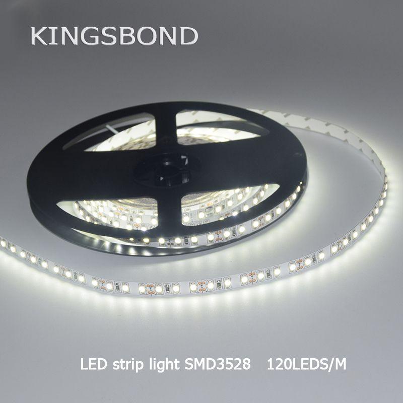 5 m/lote 3528 600 cinta de luz LED Cintas 120led/M warmwhite blanco frío LED Stripe