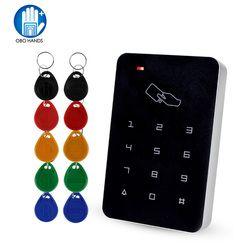 Автономный контроллер доступа с шт. 10 шт. EM брелки RFID Контроль доступа клавиатура цифровая панель кардридер для двери система блокировки