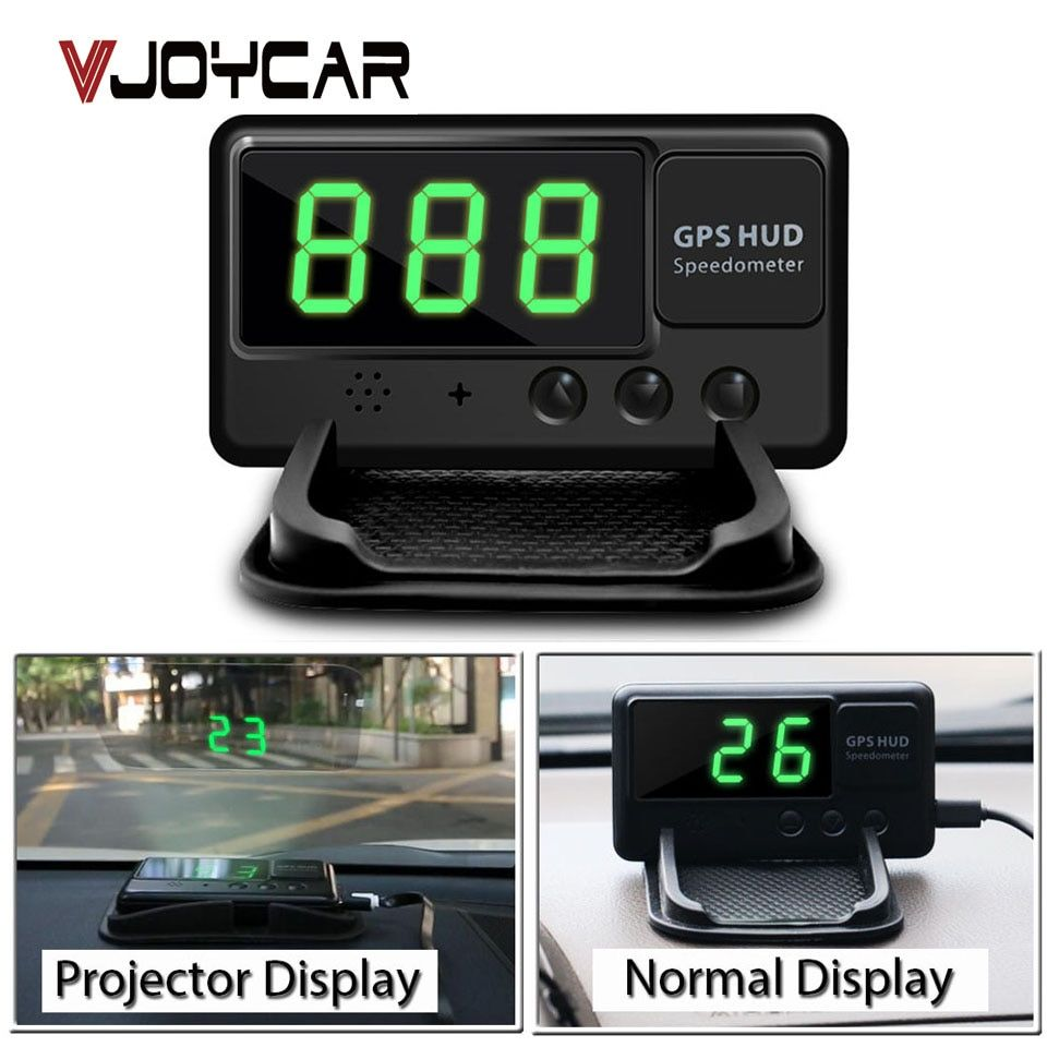 VJOYCAR C60 Auto Car HUD GPS Head Up Display Overspeed Alarm Windshield Project Alarm System Vehicle Speedometer FREE shipping35