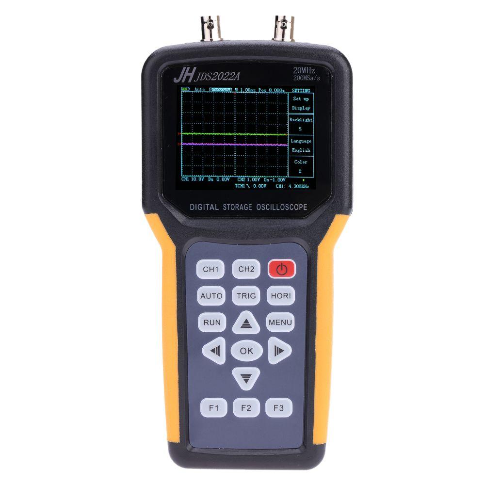Jinhan JDS2022A Digital Handheld Oscilloscope 2Channels  20MHz Osciloscopio 200MSa/s Sample rate oscilloscope Multimeter CE