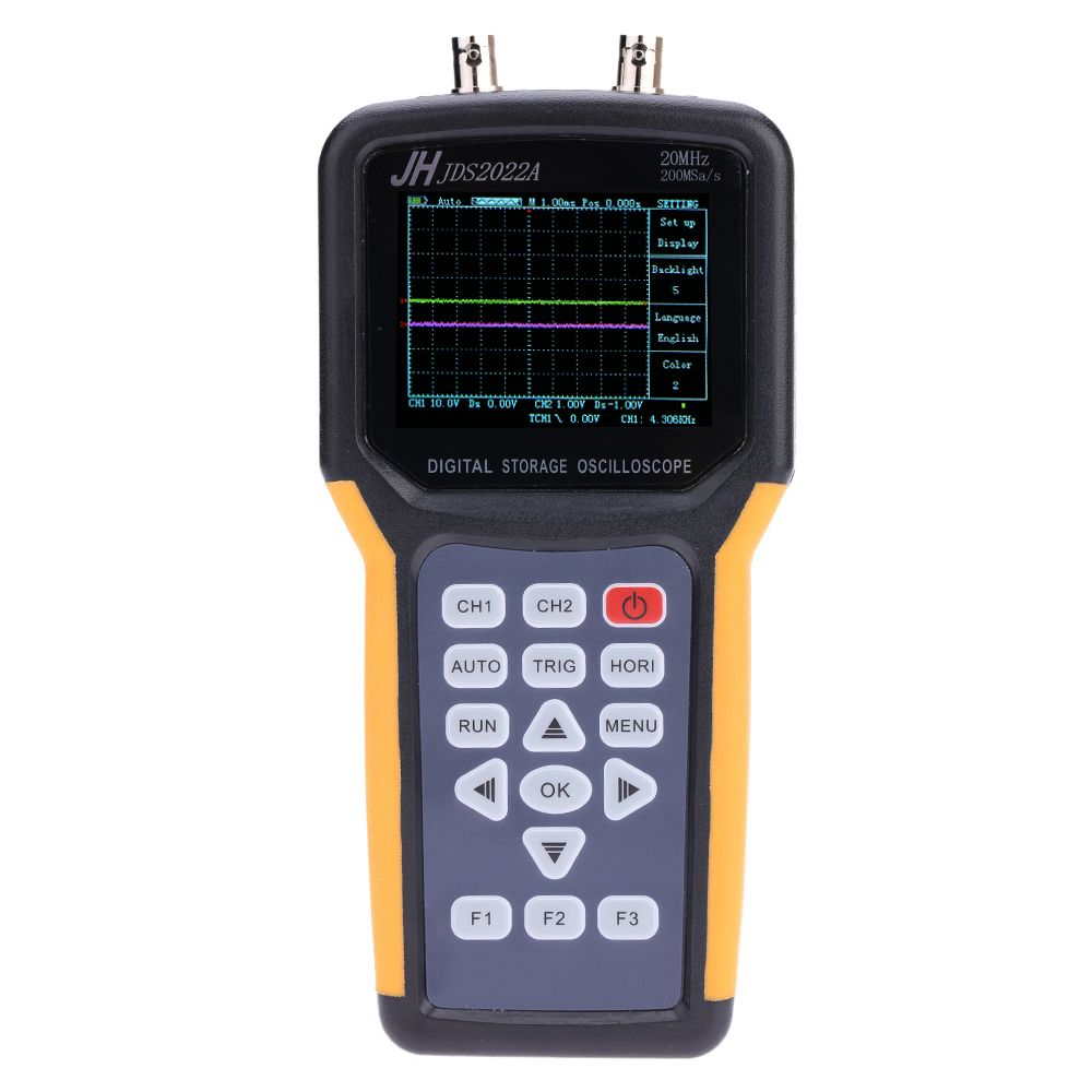 Jinhan JDS2022A Handheld oscilloscope Dual-Channel 20MHz 200M Sa/s sample rate Handheld Multimeter Digital Oscilloscope