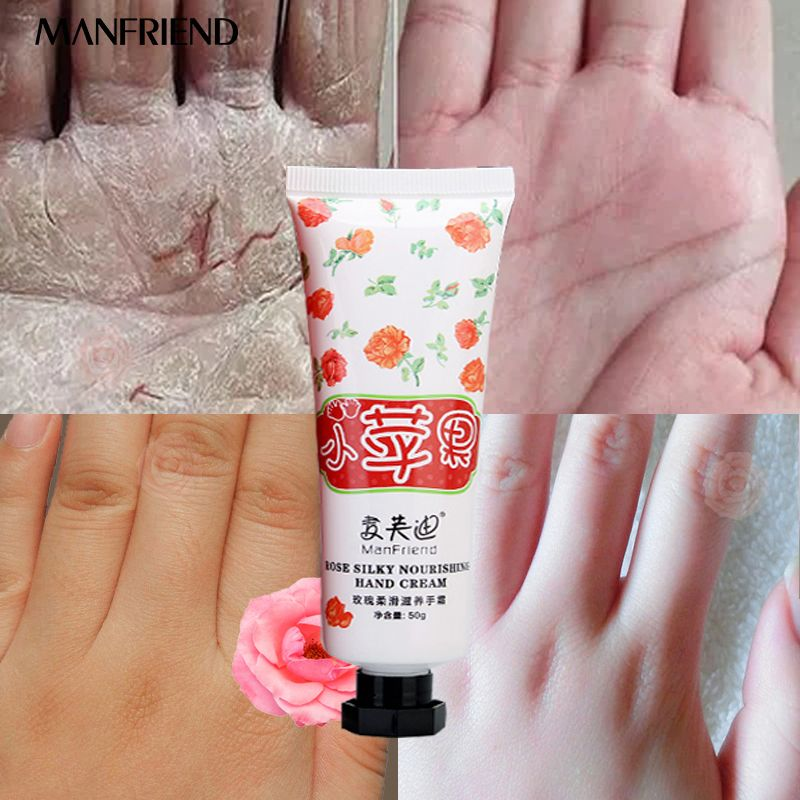 Rose Silky Essence Nourishing Hand Cream Deep Nourish Whitening Moisturizing Improve the skin dry and rough Anti Aging Hand Care