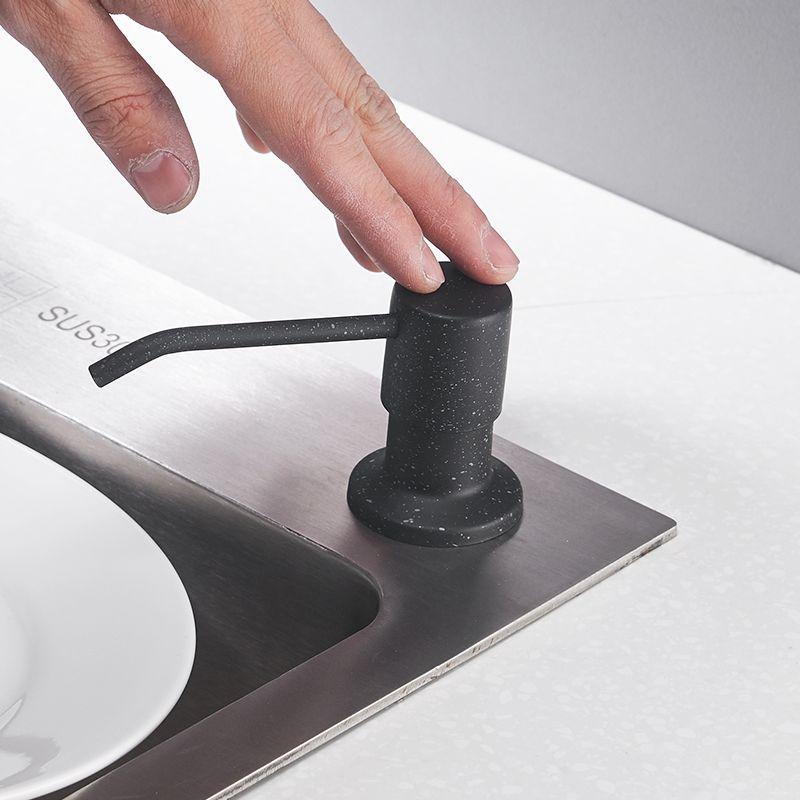 Distributeurs de savon de cuisine 400 ml montés sur pont pompe en acier inoxydable Chrome fini pour cuisine distributeur de comptoir intégré 2309