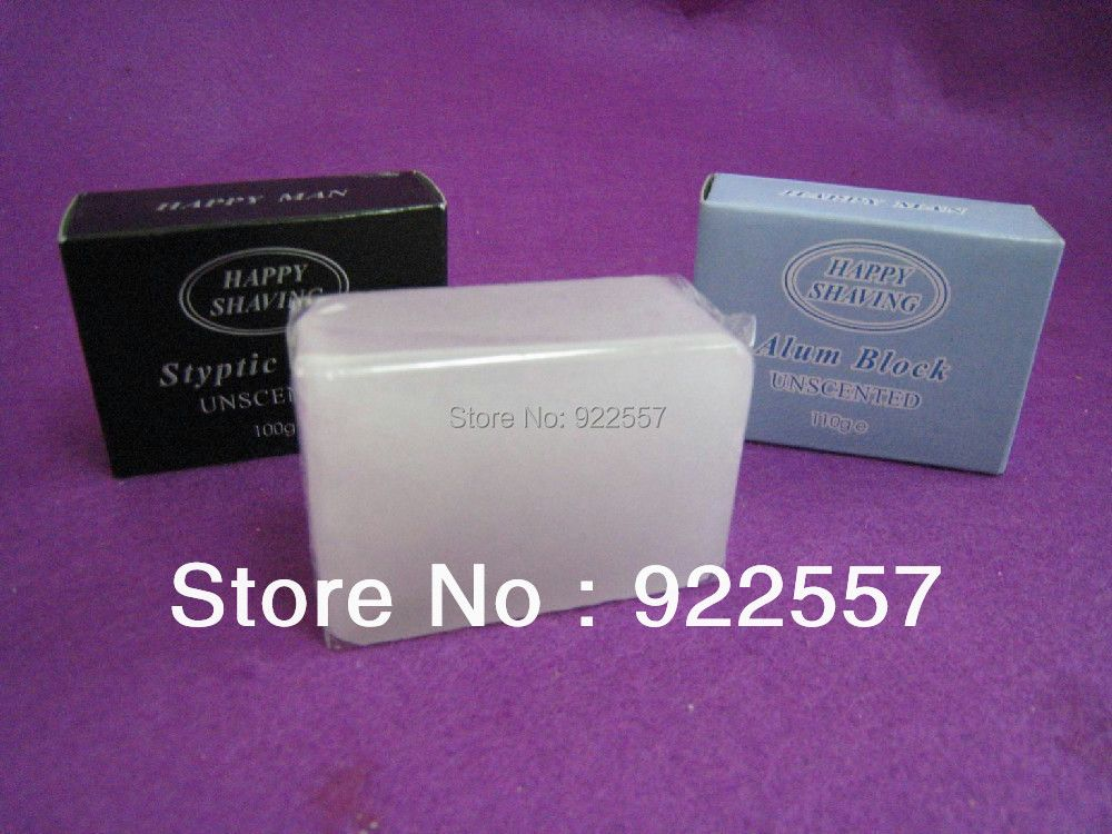Free shipping of 110g natural alum block