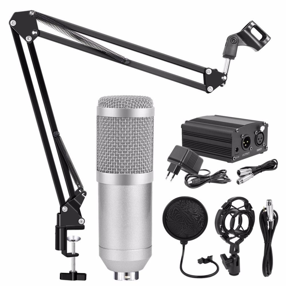 Professional BM 800 Karaoke Microphone Condenser Microphone Kits Bundle Mikrofon for Computer Microfone for Audio Vocal Record