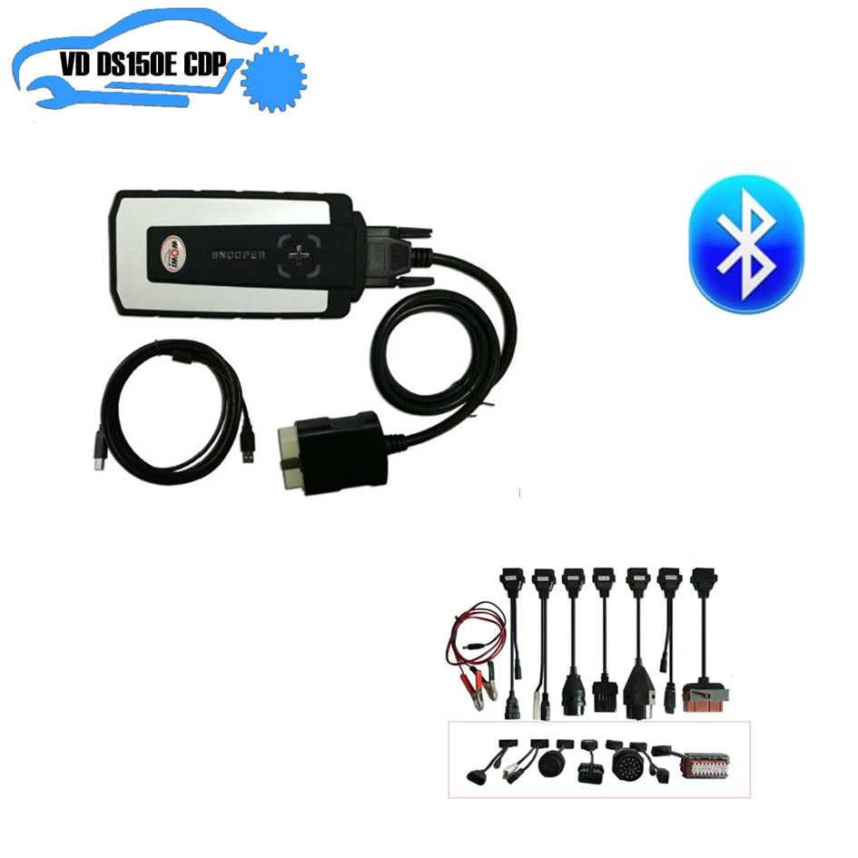 2018 wow snooper cdp with 5.008 R2 keygen on cd nec relay bluetooth cdp pro plus+8pcs full set car cable